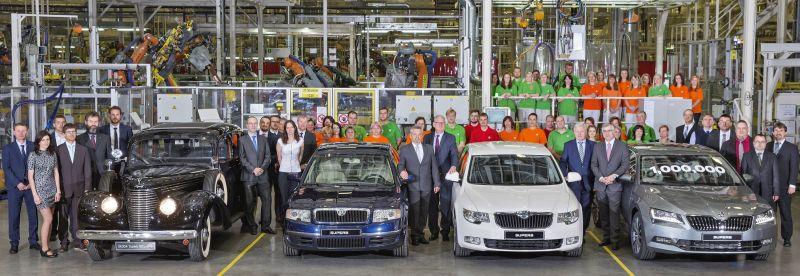 SKODA SUPERB 1 milyon üretim sınırını aştı.