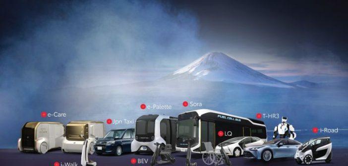 Tokyo'da sporcuları Toyota taşıyor